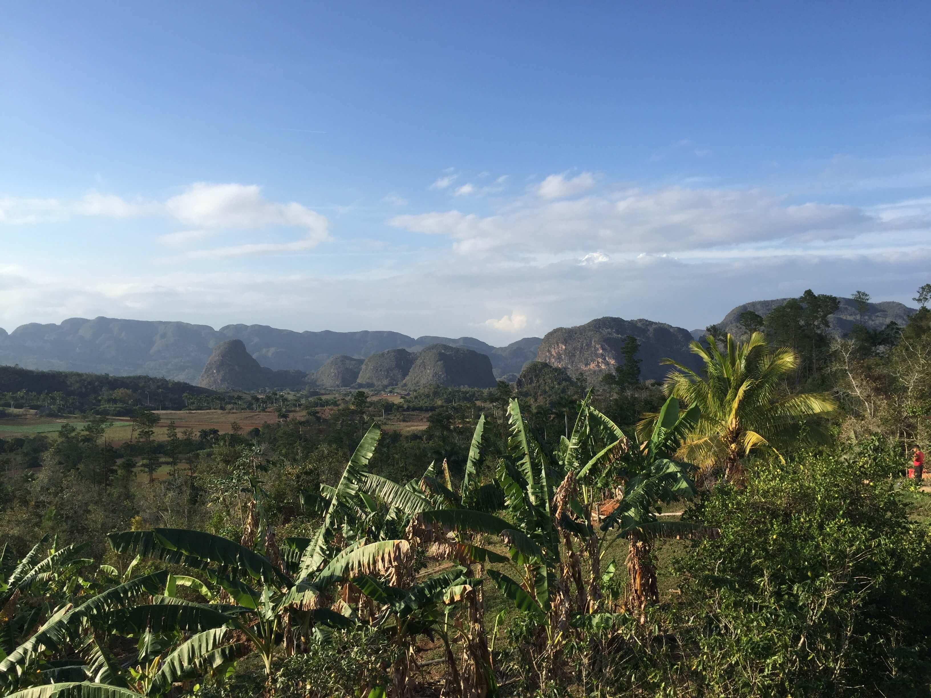 Vinales Berge Aussicht vom Restaurant