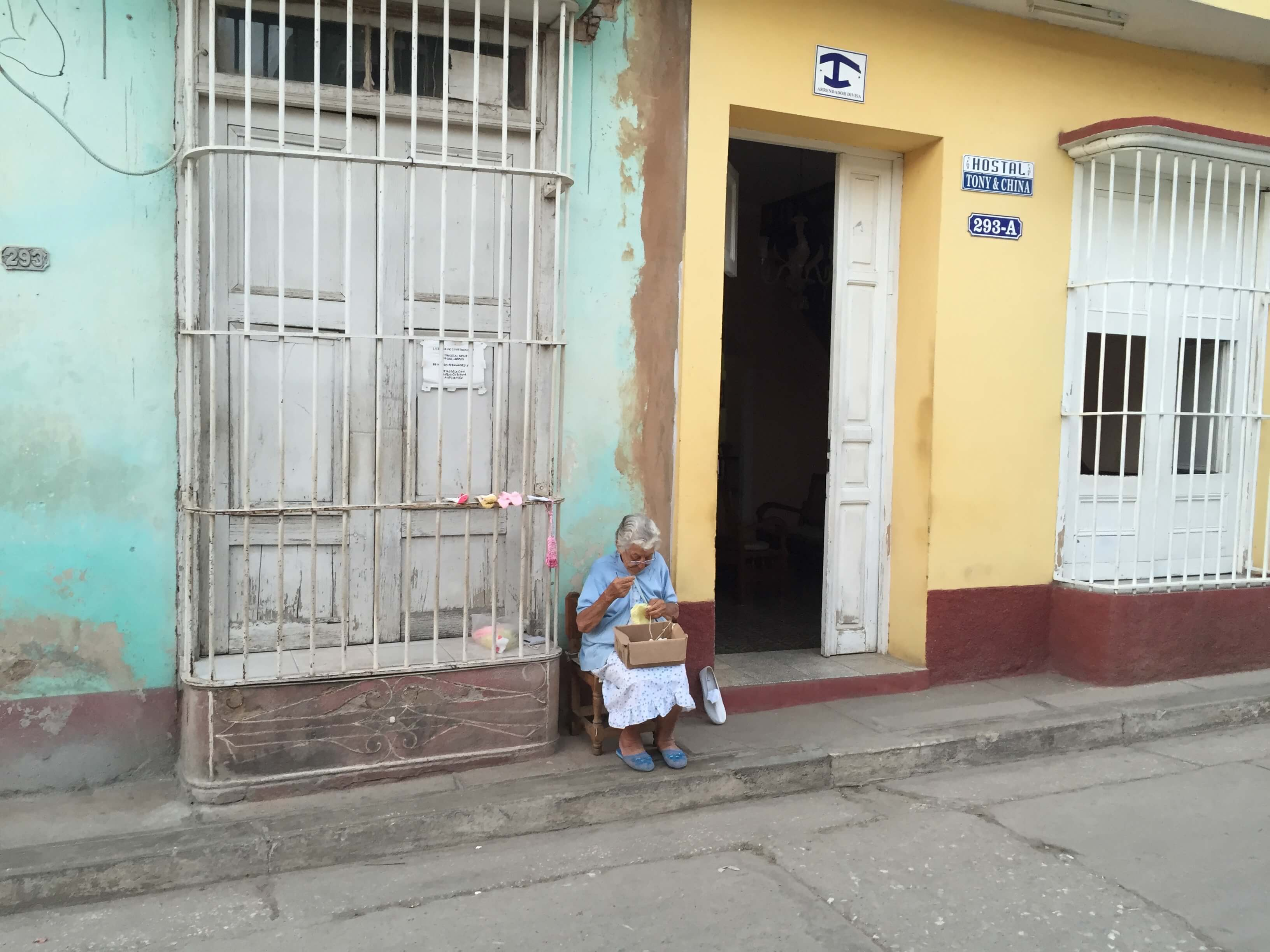 Trinidad alte Frau